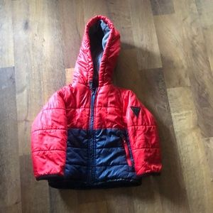 Osh kosh 2T winter puffer coat red/blue